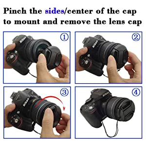 58mm Snap-on Lens Cap Cover with Keeper for AF-P NIKKOR 70-300mm f/4.5-6.3G ED Lens for Nikon D7200 D5600 D5500 D5300 D3500 D3400 D3300 Camera,ULBTER Center Pinch Lens Cap & Lens Cover Keeper -2 Pack (Color: AF-P NIKKOR 70-300mm f/4.5-6.3G ED Lens)
