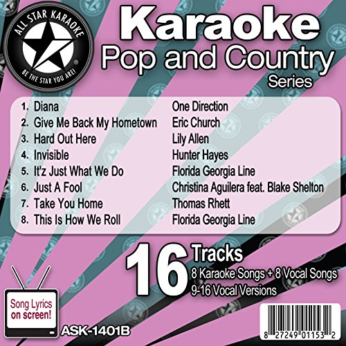All Star Karaoke Pop and Country Series (ASK-1401B) (Karaoke Cds One Direction compare prices)