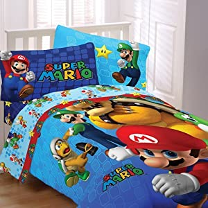 Amazon Com Super Mario Full Bedding Set Fresh Look