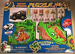 Puzzle Car Set - Battery Operated SUV Dinosaur (Dino) Map