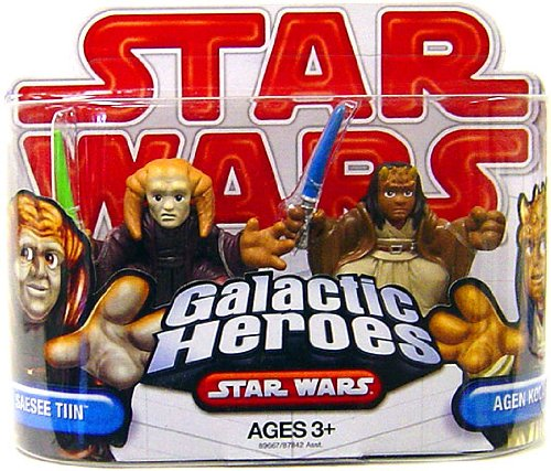 Star Wars 2009 Galactic Heroes 2-Pack Saesee Tiin and Agen Kolar