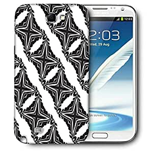 Snoogg Cross Pattern Printed Protective Phone Back Case Cover For Samsung Galaxy Note 2 / Note II