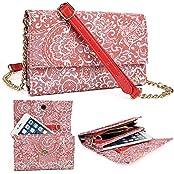 Coral Red Paisley Weekender Crossbody Bag For Plum Coach Plus Ii 2, Plum Might Lte, Plus, Pro, Pilot Plus, Sync...