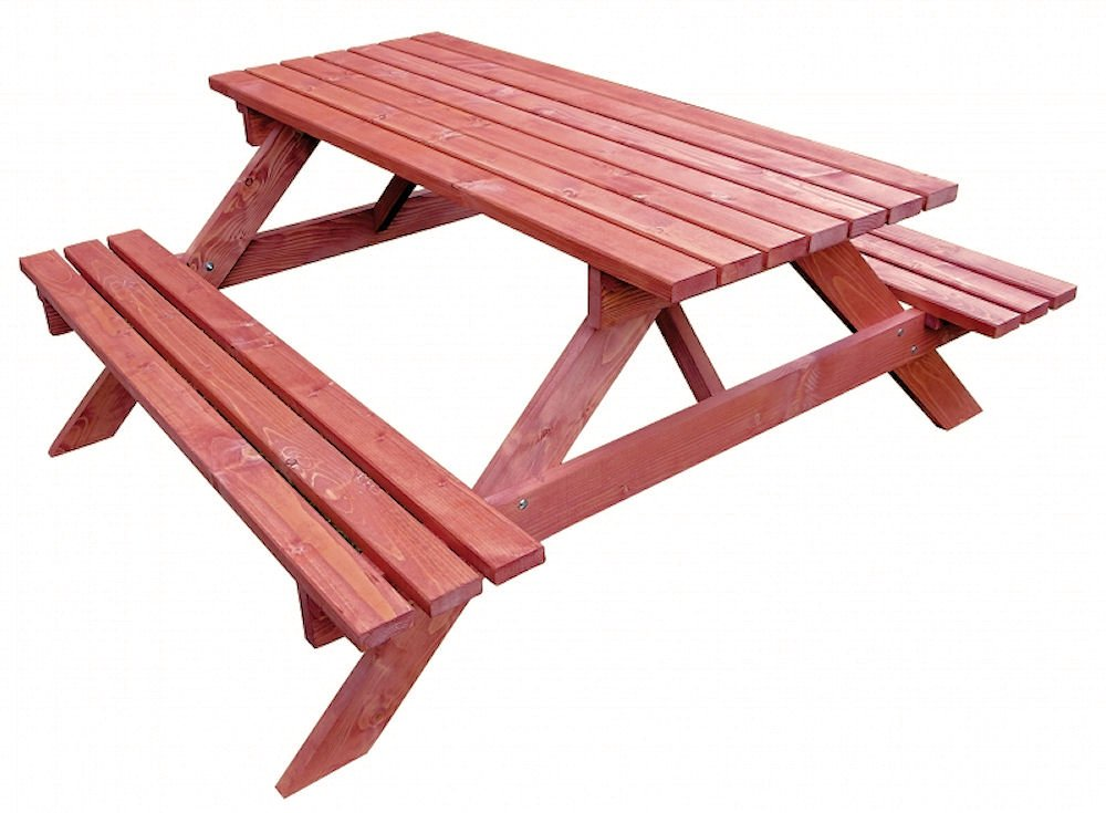 Massivholz Picknickset Sitzgruppe , Gartenbank + Gartentisch , Fb. Mahagonie jetzt bestellen