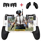 Mobile Game Controller[Upgraded Version]CIKE,Sensitive Shoot and Aim Buttons L1R1 for Knives Out/PUBG/Rules of Survival, Mobile Gaming Joysticks for Android IOS(Game triggers+controllers-2) (Color: Black)