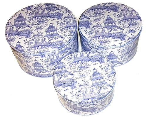 WILLIAMSBURG CHINOISERIE TOILE - 3 PIECE STACKING CAKE TINS EXQUISITE UNIQUE HIGH QUALITY CANISTERS {jg} Great for mom, dad, sister, brother, grandparents, aunt, uncle, cousin, grandchildren, grandma, grandpa, wife, husband, relatives and friend. Toile Cake