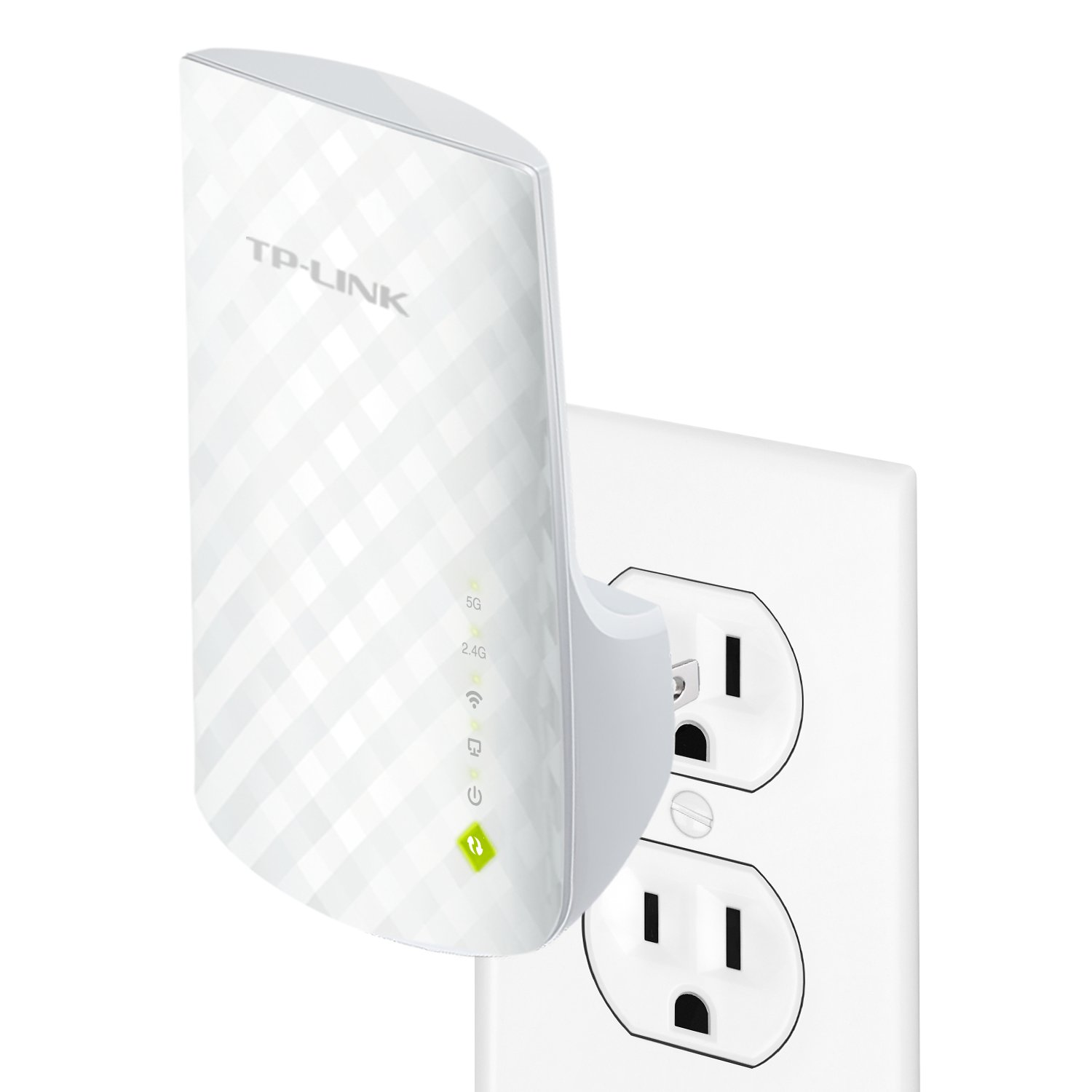 TP-LINK RE200 AC750 Universal Wireless Dual Band Range Extender, Wi-Fi Repeater, Wall Plug, Plug and Play, Ethernet Port, Smart Signal Indicator Light