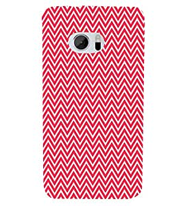 Red Chevron 3D Hard Polycarbonate Designer Back Case Cover for HTC One M10 :: HTC M10