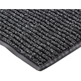 "NoTrax 117 Heritage Rib Entrance Mat, for Lobbies and Indoor Entranceways, 3' Width x 5' Length x 3/8"" Thickness, Charcoal"
