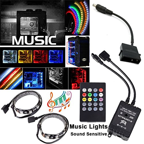 Airgoo music dynamic computer rgbw led light strip with remote quantity aloadofball Gallery
