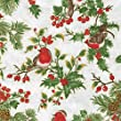 Merry Christmas Theme in White With Gold Print - Coordination from Fabric Freedom - 100% Cotton British Designed Craft Fabrics for Patchwork and Quilting Co-ordinated Colours and Prints - (Price per /QUARTER Metre)