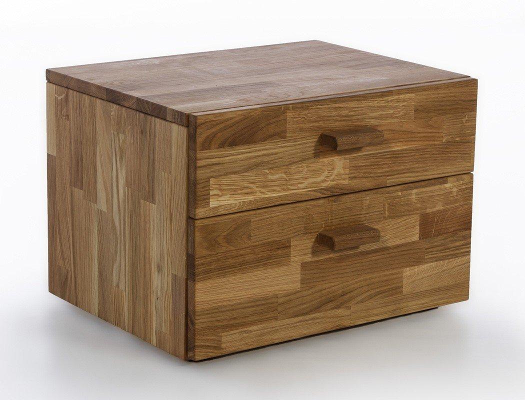 Nachttisch Curtis 1 Wildeiche geölt Massivholz 54x38x40 cm Nachtkommode Nako Nachtschrank Nachtschränkchen Schlafzimmer Jugendzimmer jetzt kaufen