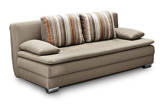 Florenz Boxspring-Systemsofa Dauerschläfer Zweisitzer Sofa inkl. Topper Liegerfläche 200 x 160 cm