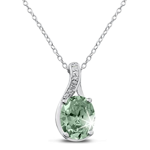 2-3-4-Carat-Oval-Shape-Green-Amethyst-and-Diamond-Necklace-In-Sterling-Silver
