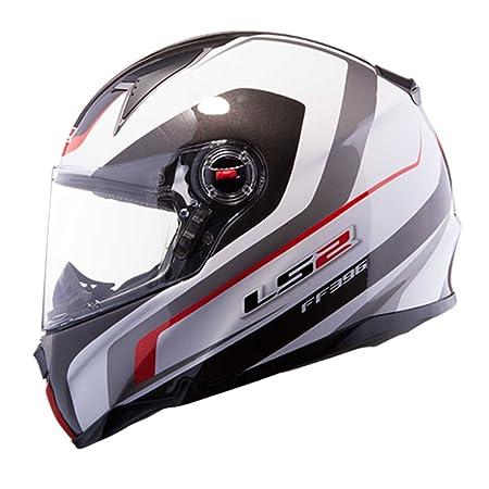 LS2 Ff396 pi2 Forza R Black casque de moto rouge blanc