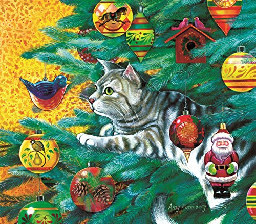 Christmas Tree Cat 300 Piece Jigsaw Puzzle by SunsOut Inc.