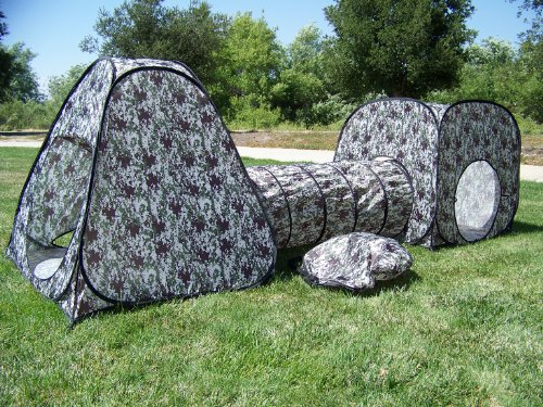 Kids-Camouflage-Pop-Up-Play-Tent-set-with- & Kids Camouflage Pop Up Play Tent set with Tunnel Play Ground ...