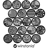 Winstonia Third Generation Nail Art Stamping Image Plates Set 20 Pcs - Full Plate Designs For Unlimited Creativity