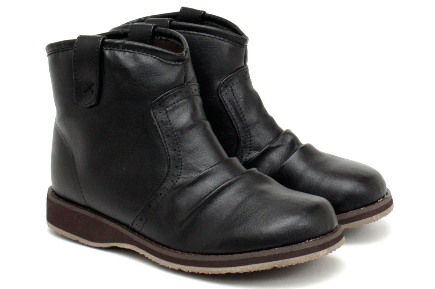 [アキリコ] akiriko 軽くてやわらかソフト素材 コガシ加工 シンプルなカジュアルデザイン 約2.8cmローヒール アンクル丈ブーツ