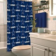 Dallas Cowboys NFL Fabric Shower Curtain (72x72) by Northwest
