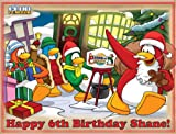"Single Source Party Supply - Club Penguin Edible Icing Image #4-8.0"" x 10.5"""