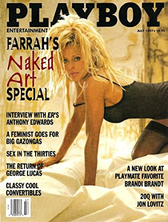 Playboy July 1997 Farrah Fawcett on Cover (nude inside), Anthony Edwards/ER Interview, George Singleton Fiction, 20 Questions - Jon Lovitz, George Lucas Profile, History of the Sexual Revolution Part IV