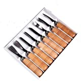 8 Piece Set Wood Carving Hand Chisel Tool Carving Tools Woodworking Professional Gouges New free shipping (Color: same as picture)