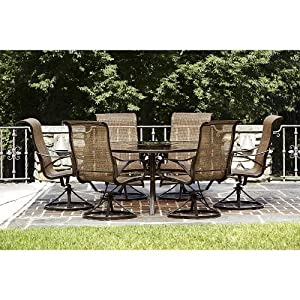 Sale owens 7 piece patio dining set this high quality for Quality patio furniture