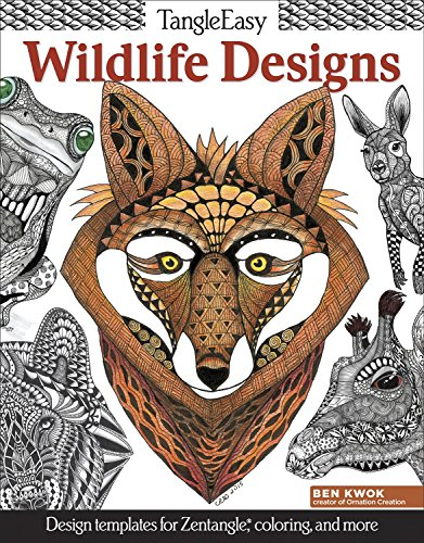 TangleEasy Wildlife Designs: Design Templates for Zentangle(r), Colorists, and More PDF