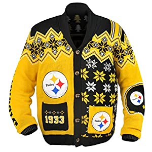 Pittsburgh Steelers NFL Adult Ugly Cardigan Sweater at Steeler Mania