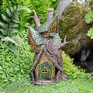 Miniature fairy garden tree house kitchen for Amazon uk fairy doors