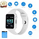 Smartwatch Touch Screen, JACSSO Generation Bluetooth Smart Watch Colorful UI, Smart Watches Phone Compatible Android Phones Samsung LG Men Women (Color: White)