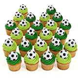 24 Soccer Cupcake Toppers