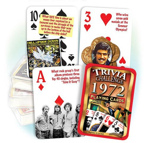 Flickback 1972 Trivia Playing Cards - 1