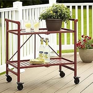 Rolling Serving Cart Wheels Outdoor Folding