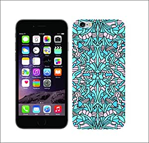 Galaxy Print Media Printed Multi-Coloured 1360 Abstract Alien Aqua Hard Cover For Apple Iphone 6