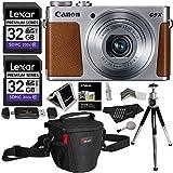 Canon PowerShot G9 X Digital Camera 20.2 MP Sensor & Wi-Fi Silver + Lexar 32GB 2 Pack + Ritz Gear Case + Card Reader + Polaroid 8