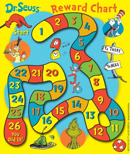 Eureka Dr. Seuss Game Mini Reward Charts With Stickers, Package of 36 (837013)