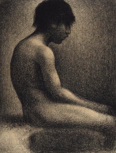 Classic Art Poster - Seated Nude- Study for 'Une Baignade' by Georges Seurat ...