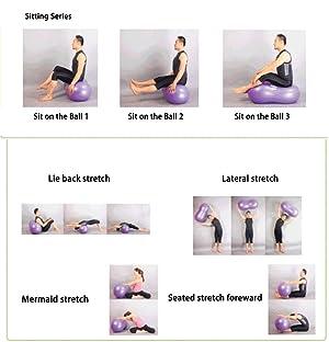 HnjPama Exercise Ball Peanut Shape Yoga Ball PVC Massage Rehabilitation Ball with Pump