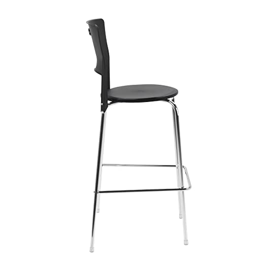 Leia tabouret haut de bar noir alinea for Table telescopique cuisine
