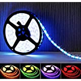 LightPlus 16.4 ft (5m) RGB LED Strip - Flexible 300 Leds Color Changing RGB SMD5050 LED Light Strip - Powerful, Bright, and Long Lasting Lights