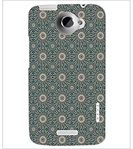 PrintDhaba Pattern D-5265 Back Case Cover for HTC ONE X (Multi-Coloured)