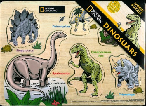 National Geographic Dinosaurs Wood Puzzle - Multi Layer Learning Puzzle