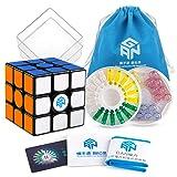 Coogam GAN 356 X Speed Cube 3x3 Gans 356X Magnetic Puzzle Cube Gan356 X 3x3x3 M Black (IPG V5 Version)