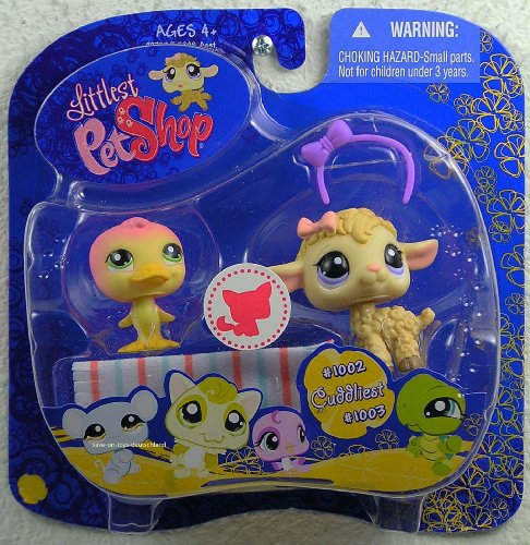 Buy Low Price Hasbro Littlest Pet Shop 2009 Assortment B Series 4 Collectible Figure Duck Lamb (B002FCDFIA)