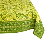 "Mahogany P116T9 Rectangle ""Emily"" Printed Tablecloth, 60 by 90-Inch, Yellow"