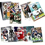 40 Football Hall-of-Fame & Superstar Cards Collection Including Dan Marino, Troy Aikman, Jim Thorpe, Joe Montana, John Elway, Barry Sanders, Ships in Protective Plastic Case Perfect for Gift Giving.