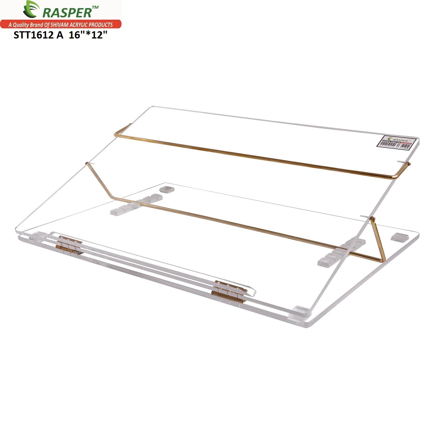 Rasper Clear Acrylic Table Top Elevator Writing Desk (SMALL SIZE 16*12  INCHES)