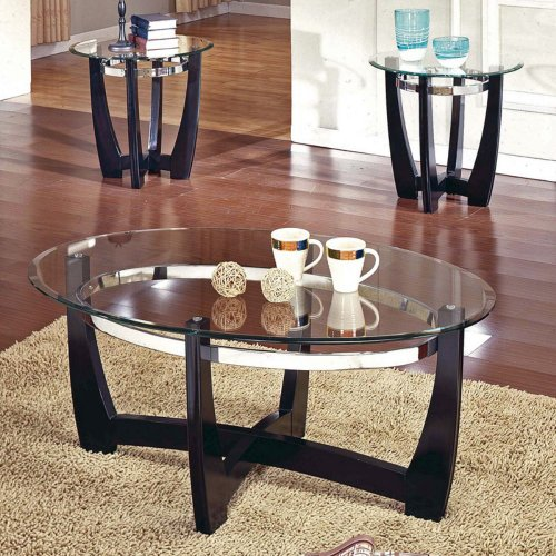 Round Silver Leaf Coffee Table B006MUY37S Coffee Table Bargain